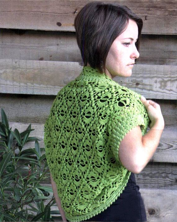 Crochet shrug crochet jacket PATTERN only by FavoritePATTERNs, $5.00