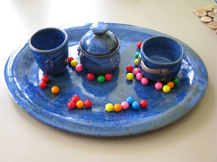 Tray with mixed items.