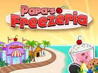 Play Papa's Freezeria Now at hoodamath.com - You've just landed an amazing summer job on the tropical island of Calypso. Papa's Freezeria is an ocean front ice cream shop that will surely be a relaxing way to spend the summer. That is until Papa Louie takes off, leaving you in charge during the peak of tourist season. Boat loads of customers are coming to Calypso Island in search of the best Freezer treats around.