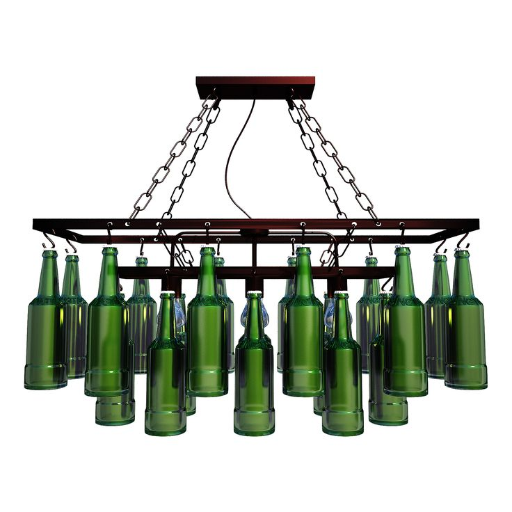 Pendant Lamp Beer Bottles 3D Model Download | fbx obj max 3ds - 3D Squirrel
