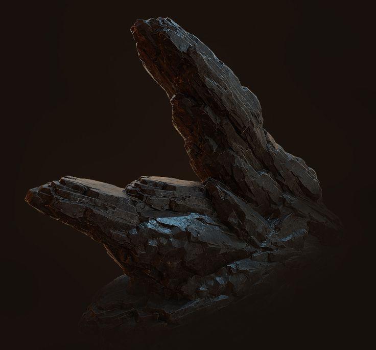 Dark Rocks [Realtime] on Behance