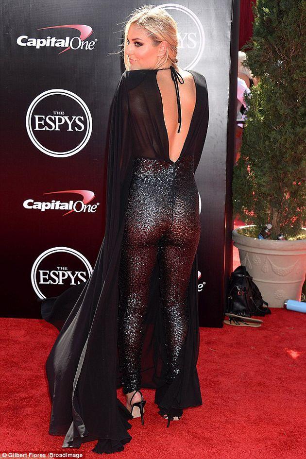 ¡Atrevida! Lindsey Vonn atrapó las miradas en los premios Espy con este traje
