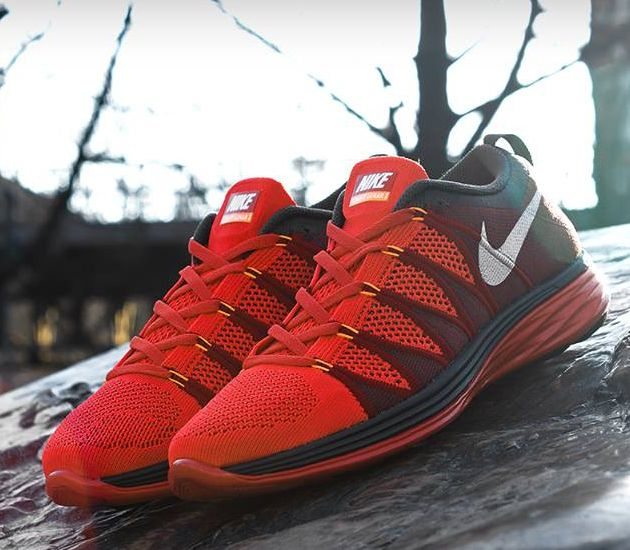 Nike Flyknit Lunar2–Light Crimson-White-Gym Red