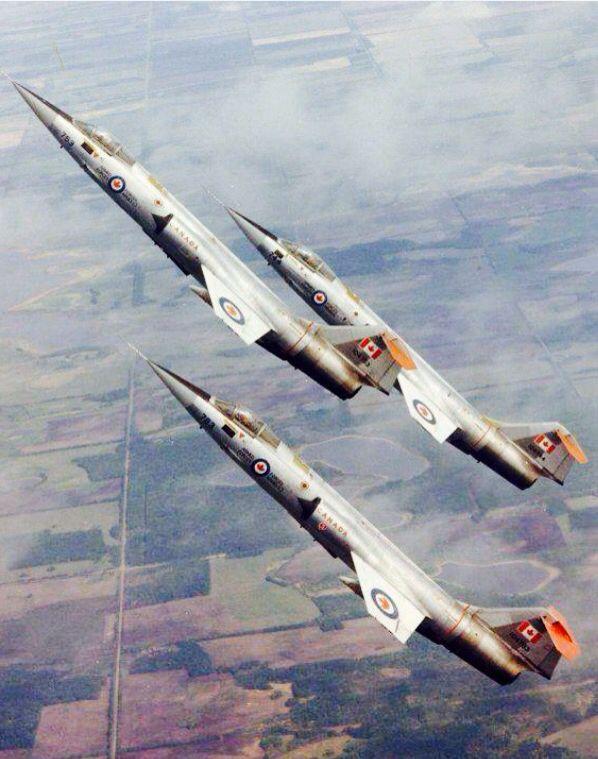 RCAF CF-104 Starfighters, 417 Squadron, Cold Lake, Alberta