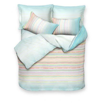 Esprit Light Blue Bed Linen Set - You will fall for this beautiful set if you are keen on buying bed linen online. This is made of 100% cotton and will definitely be a nice gift for your loved ones. This comes in light blue and has two variations.