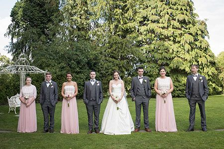 Bridal party on the grounds of the Castleoaks Hotel, Co. Limerick