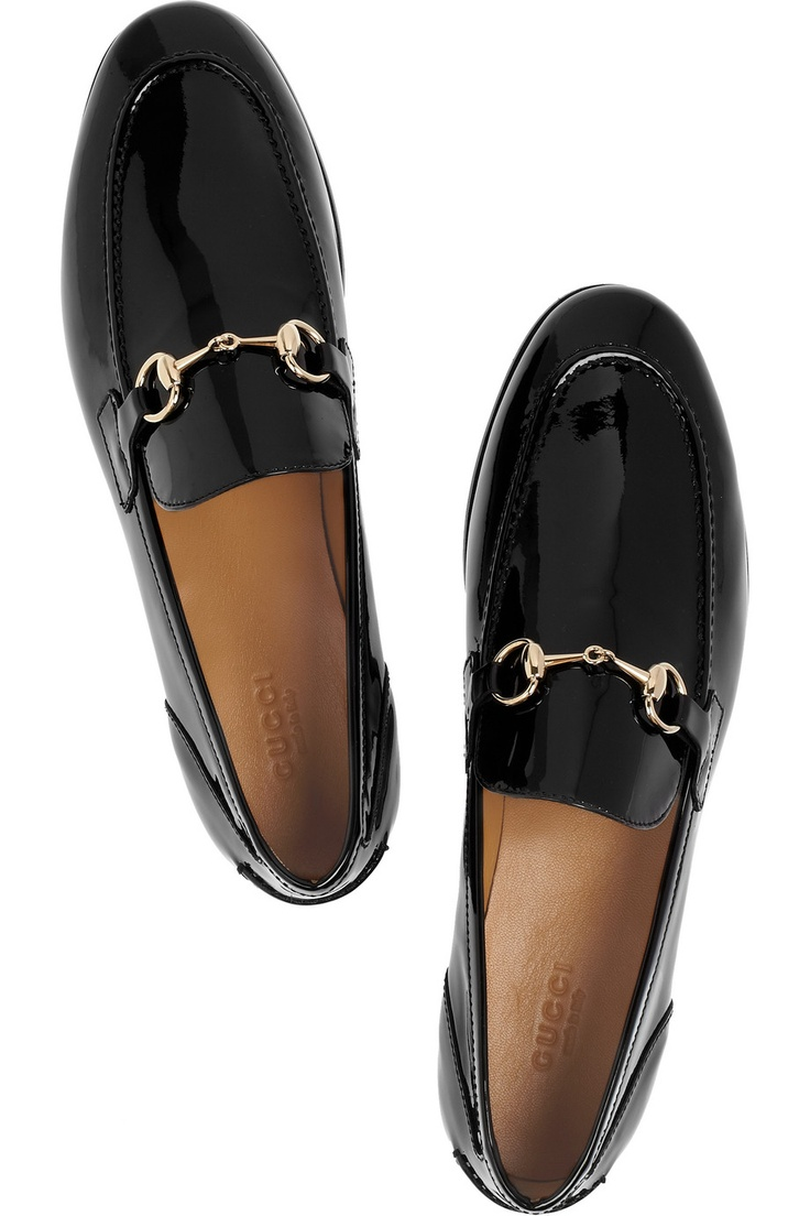 Gucci | Horsebit-detailed patent-leather loafers | NET-A-PORTER.COM