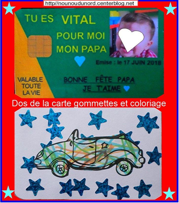 Carte Vitale Et Porte Cles Pour La Fete Des Peres Fete Des Peres