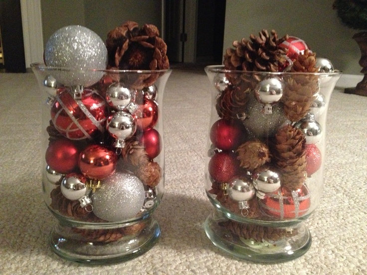 Easy Mantle Decor Or Centerpieces Christmas Ideas