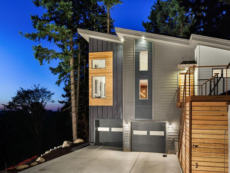 Corrugated Metal Siding Exterior Contemporary With Butterfly Roof