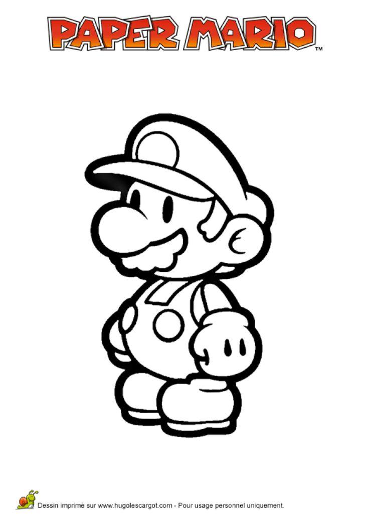 Coloriage Mario Paper Millenaire 02 Coloriage Mario Coloriage Mario