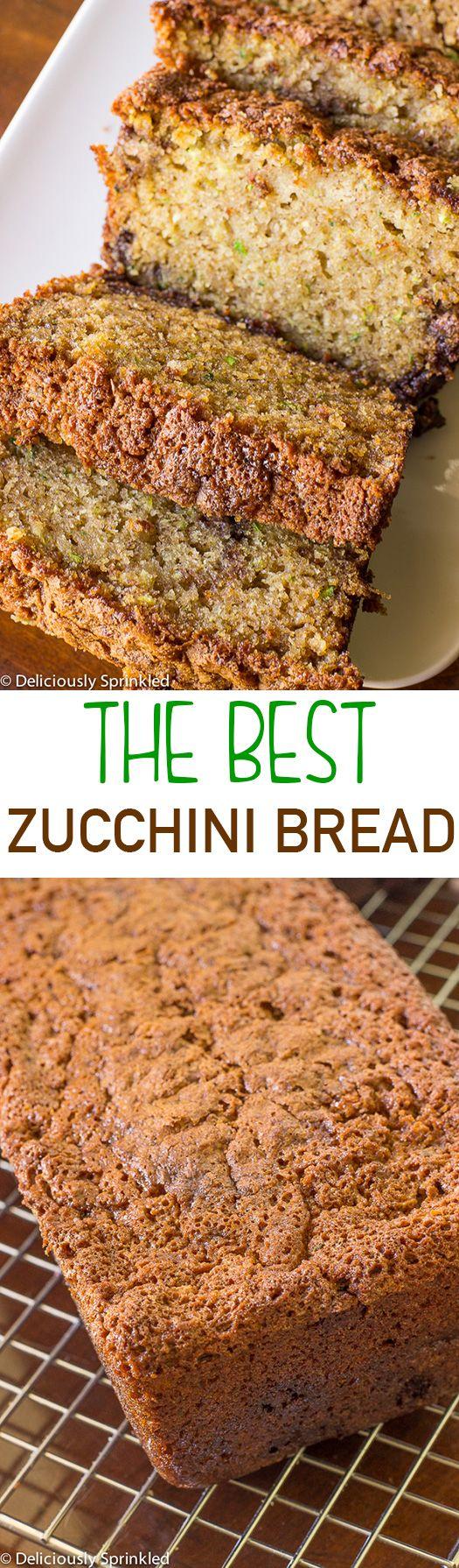 The BEST Zucchini Bread recipe EVER!