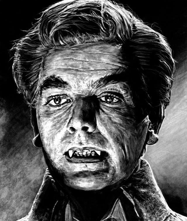David Peel as Baron Meinster from The Brides of Dracula painted by Mark Owen