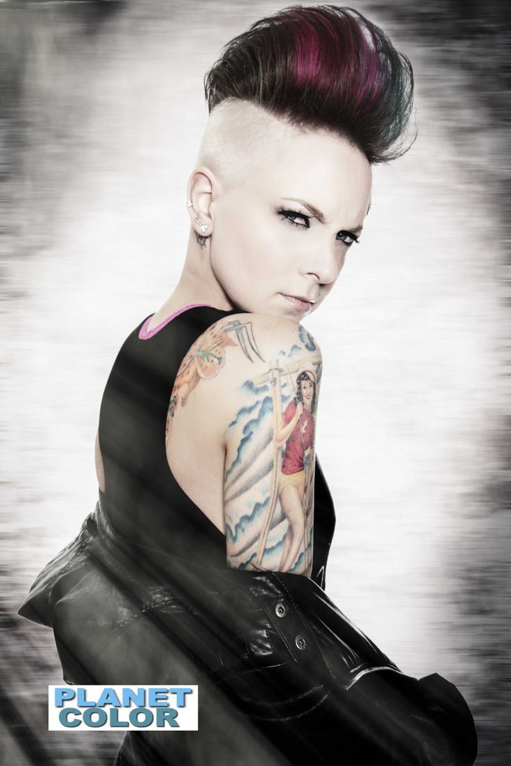 picture of haircut 481 best side cuts amp undercuts images on hair 5346 | ff3b9e28dee7660f96d0d0f5efa5346f mohawk hairstyles for women haircuts for women