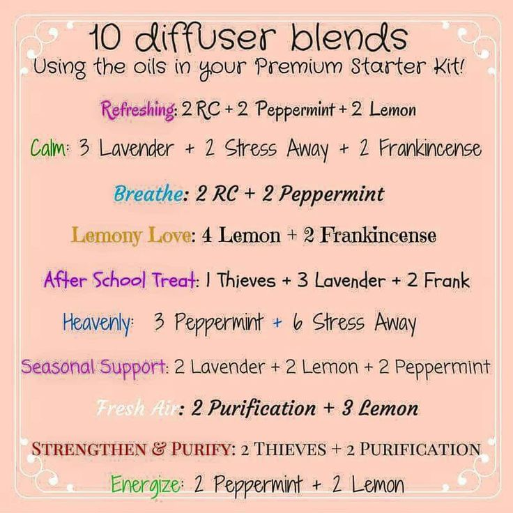 Young living oil cheat sheet