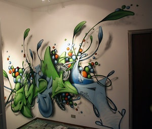 graffiti game room, if so inclined (I'm not much of a graffiti fan, but son would love it).