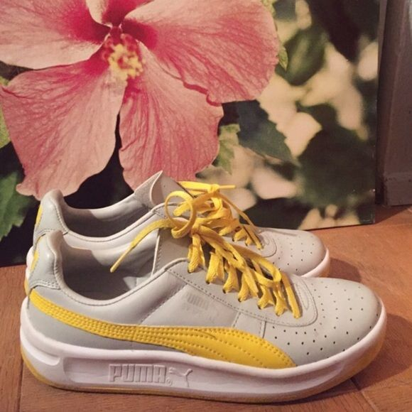 Puma GV Special Light gray and yellow puma sneakers. I purchased these through poshmark but they are too big on me. Only worn a few times by previous owner. Puma Shoes Sneakers