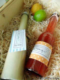 Erdbeerlimes und Amaretto- Sahne Likör