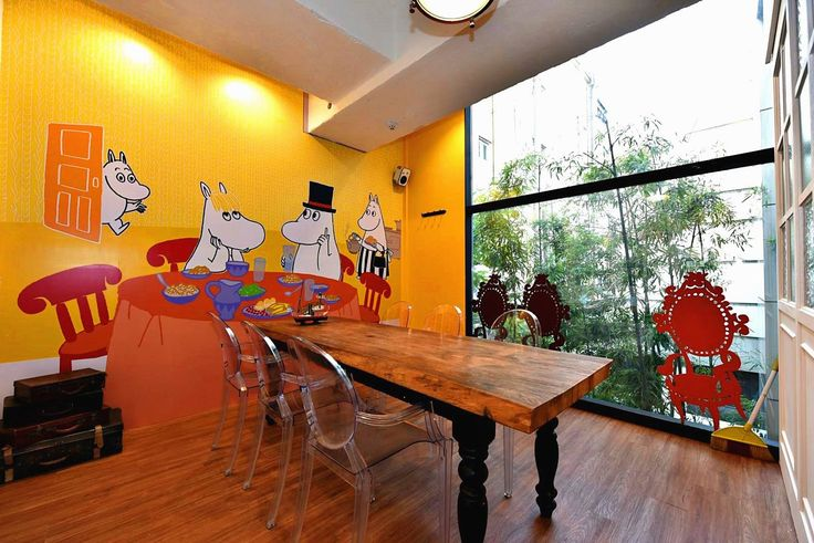 Cafe Moomin & Me, Apgujeong Rodeo (Bundang Line) Exit 5 #cute #cafe #themed #seoul #korea