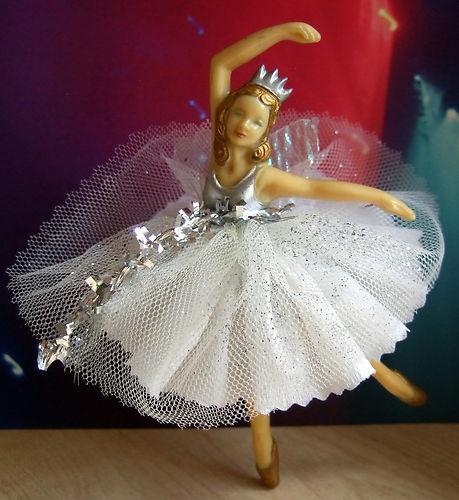 Lovely vintage 1950s Christmas Tree Fairy Ballerina in white sparkly dress ~~~ | eBay