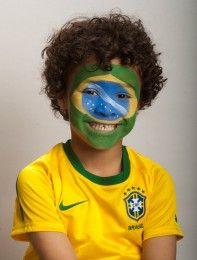 Brazilian flag face paint - goodtoknow