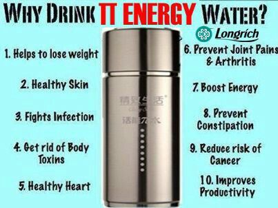 Drinking water from the energy  cup will give you satisfaction in taste and so much more.