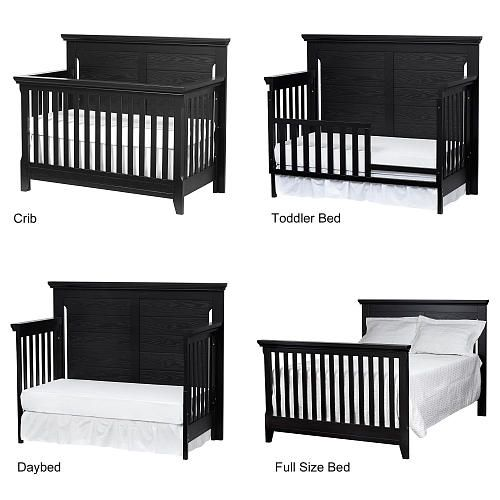 """Baby Cache Overland 4-in-1 Convertible Crib - Forever Black - Baby Cache  - Babies""""R""""Us"""
