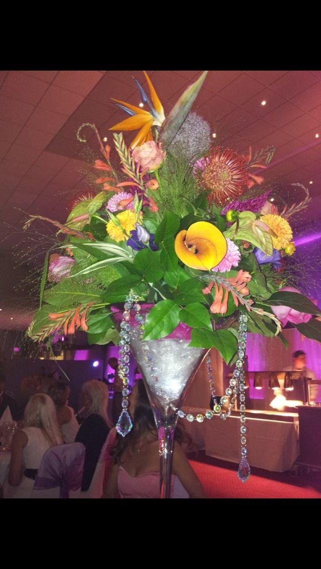 Tropical wedding centre pieces inspirational