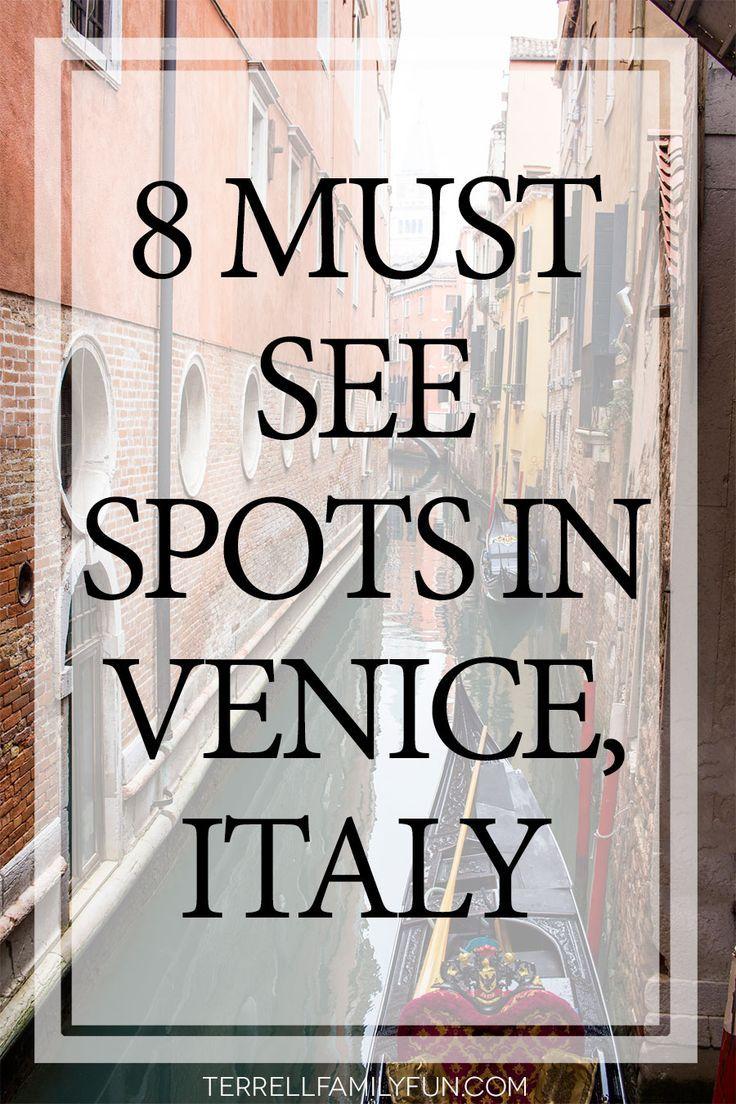 Venice Italy, 8 must see spots in venice italy, sight seeing in venice italy, touring venice, visiting venice #travel #venice