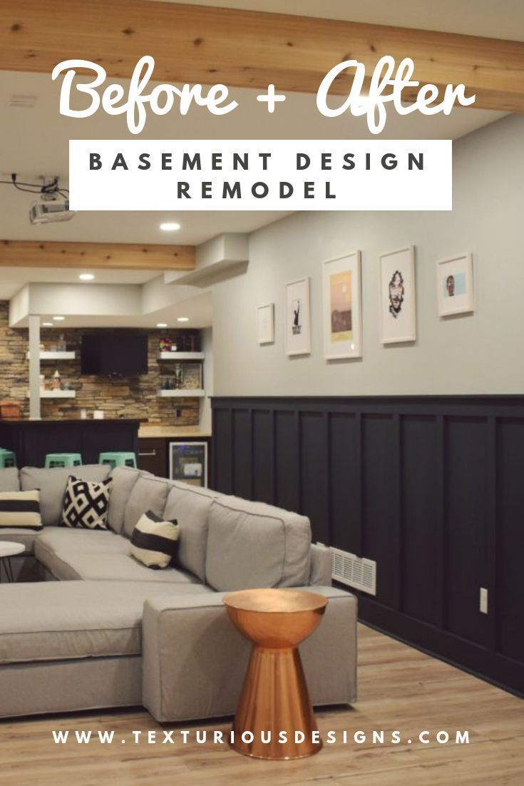 Before After Basement Design Remodel Basement Design Modern