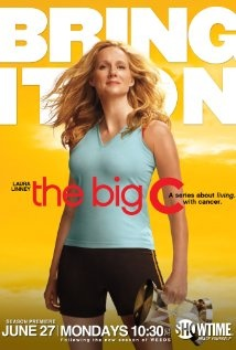 """The Big C"" is a comedy/drama series about Cathy Jamison, a suburban wife and mother diagnosed with cancer. At first she keeps her diagnosis from her family, behaving in ways they find increasingly odd and bizarre. As the show progresses, Cathy allows her family and some friends to support her as she copes with her illness. Excellent show."