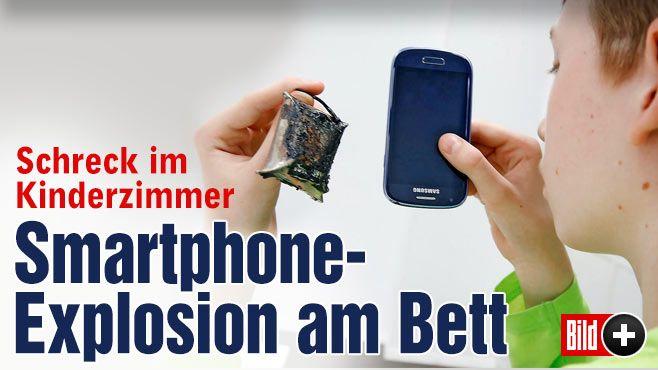 Björn (12) legte sich arglos schlafen – und bekam dann den Schrecken seines Lebens | Mein Smartphone ist an meinem Bett explodiert! Am Bett eines Jungen ist nachts ein Handy explodiert! Das Gerät lag qualmend auf dem Boden und sprühte Funken!  Wie das geschehen ist und wie sich der Hersteller Samsung dazu äußert, l... http://www.bild.de/bild-plus/regional/ruhrgebiet/ruhrgebiet/mein-smartphone-ist-an-meinem-bett-explodiert-40245398,var=a,view=conversionToLogin.bild.html