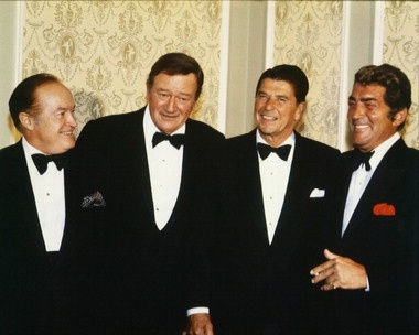 John Wayne & Ronald Reagan Bob Hope Dean Martin  Legends  16X20 Poster  for sale online