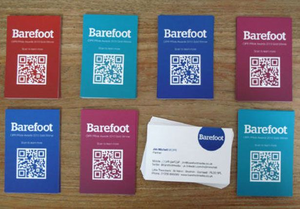 Inspirational ideas to incroporate QR codes onto business cards