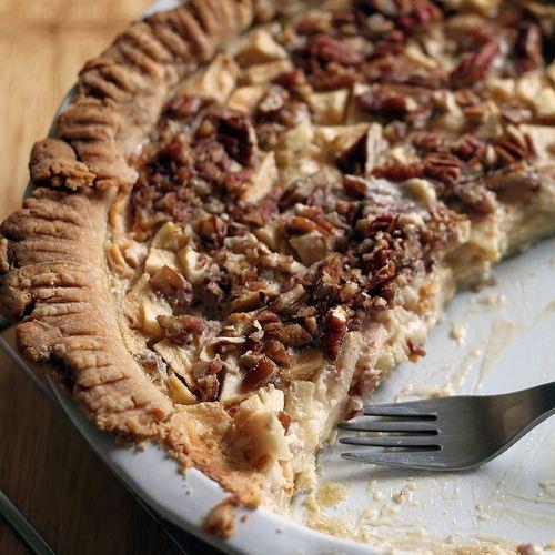 Apple-honey custard pie.   Tart and Pie   Pinterest