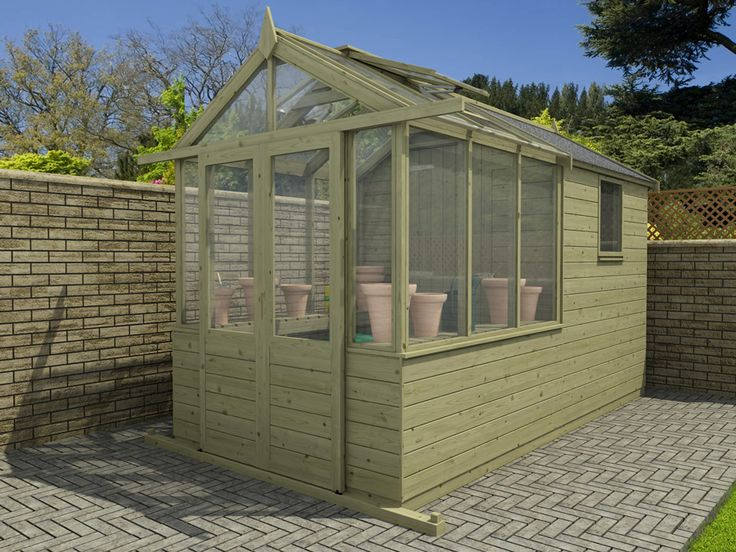 the best images about greenhouse and shed on pinterest - Garden Sheds With Greenhouse