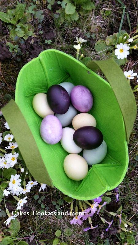 Ostereier mit Naturfarben - Eier natürlich mit Farben aus der Küche färben