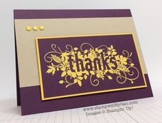 SU! Seasonally Scattered stamp set; colors are Blackberry Bliss, Crumb Cake, Crushed Curry - Brian King