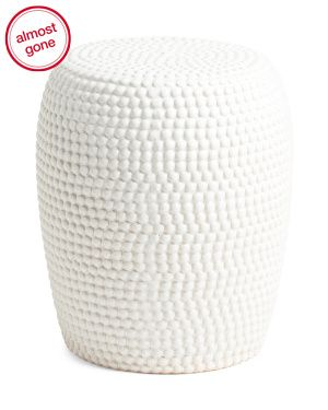 Beaded Texture Ceramic Garden Stool