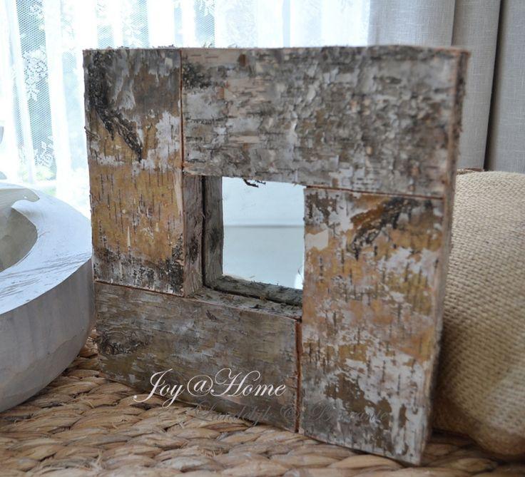 Spiegel sloophout vierkant