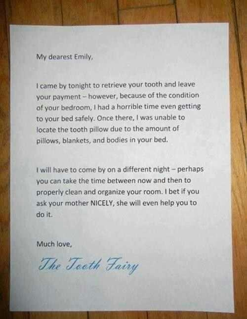 Tooth fairy letter #toothfairy #kids #organize