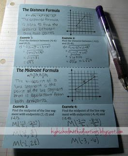 High School Math Adventures with Ms. Smith: Distance and Midpoint Formulas