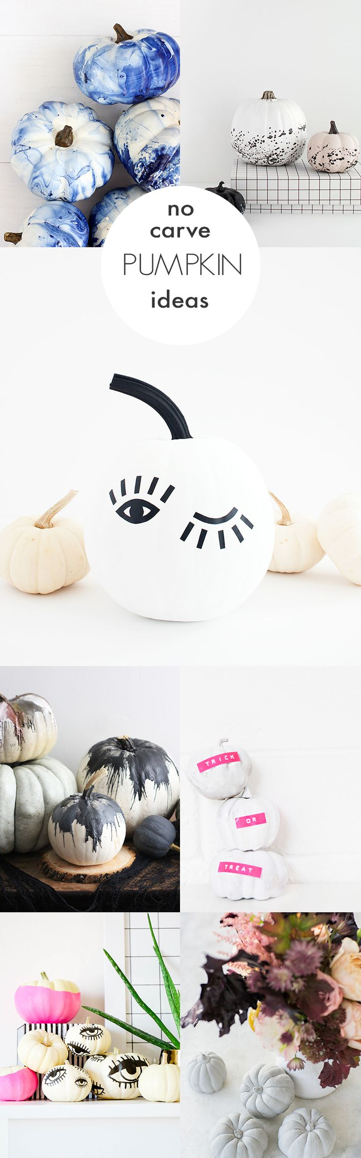And fashion magic halloween pumpkins carving and decorating ideas - Last Minute No Carve Pumpkin Decorating Ideas