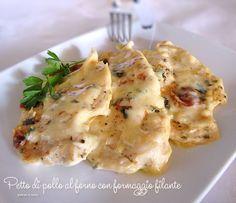 Petto di pollo al forno con formaggio filante. Nuovo modo per cucinare i petti di pollo! Con questa ricetta, semplicissima, si formerà una gustosa .........