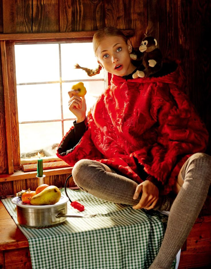 visual optimism; fashion editorials, shows, campaigns & more!: joy of pippi longstocking: anna selezneva by giampaolo sgura for vogue japan september 2015
