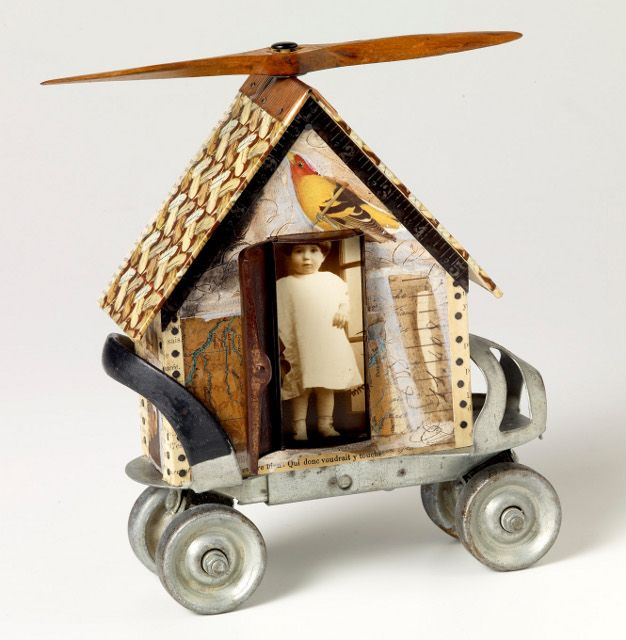 """""""Training wheels"""" ~ assemblage by Beverly Soasey"""
