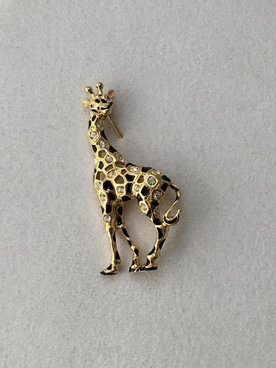 282310722 Swarovski Crystal Giraffe Brooch Swan Logo Giraffe Pin | My Style in ...
