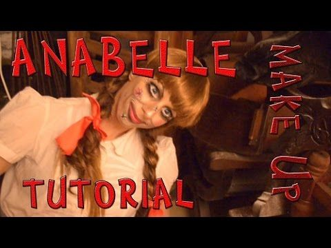 Maquillaje de la muñeca Anabelle para Halloween - Anabelle make Up - Argentina - YouTube