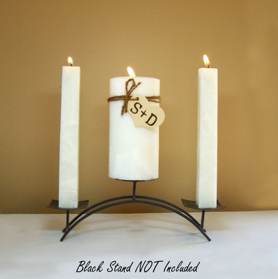 Rustic Unity Candle Set for Weddings by StillWaterCandles on Etsy, $34.00
