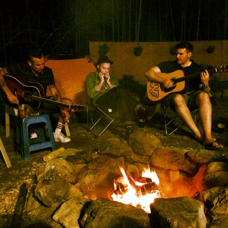 Songs around the campfire.